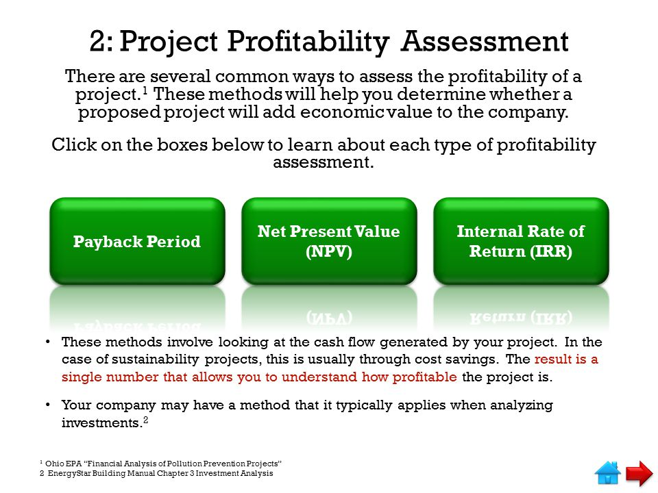 2: Project Profitability Assessment