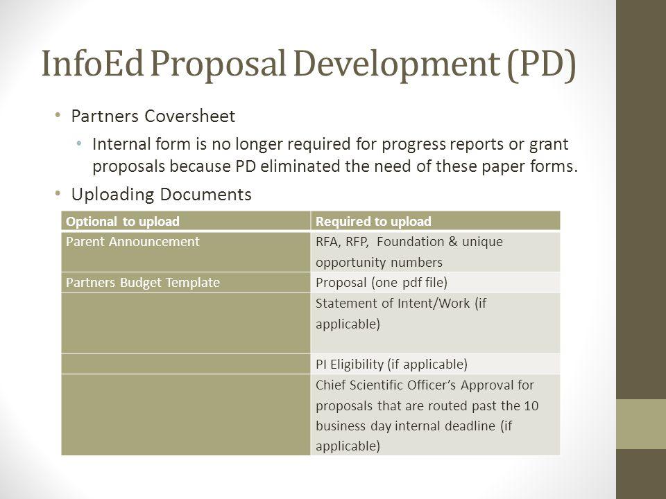 InfoEd Proposal Development (PD)
