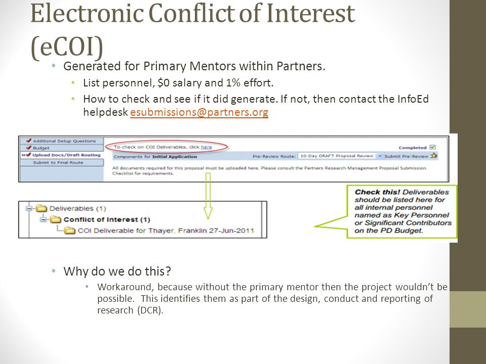 Electronic Conflict of Interest (eCOI)