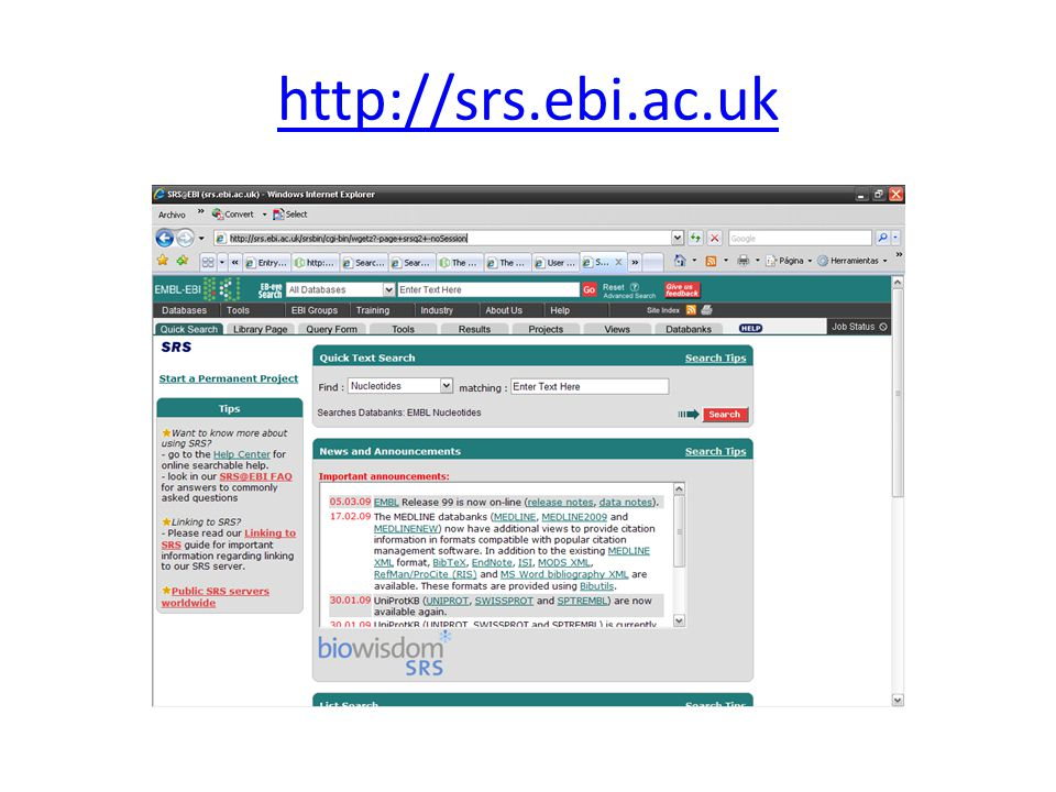 http://srs.ebi.ac.uk