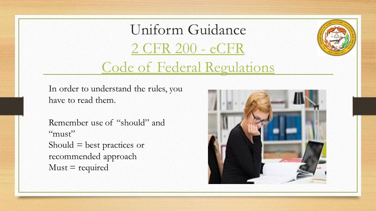 Uniform Guidance 2 CFR 200 - eCFR Code of Federal Regulations