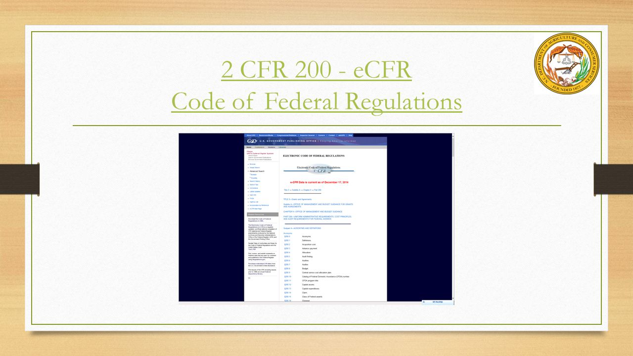 2 CFR 200 - eCFR Code of Federal Regulations