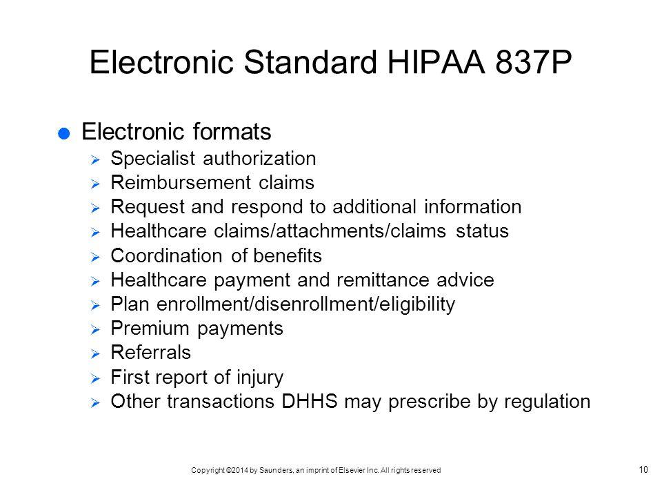 Electronic Standard HIPAA 837P
