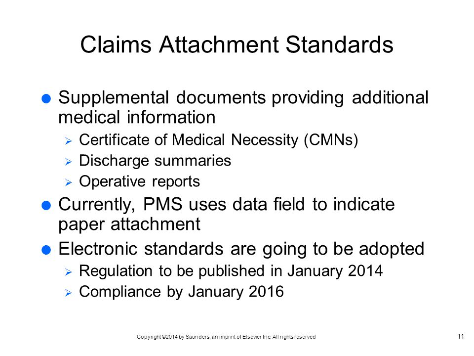 Claims Attachment Standards
