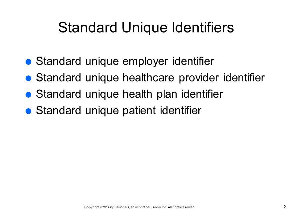 Standard Unique Identifiers