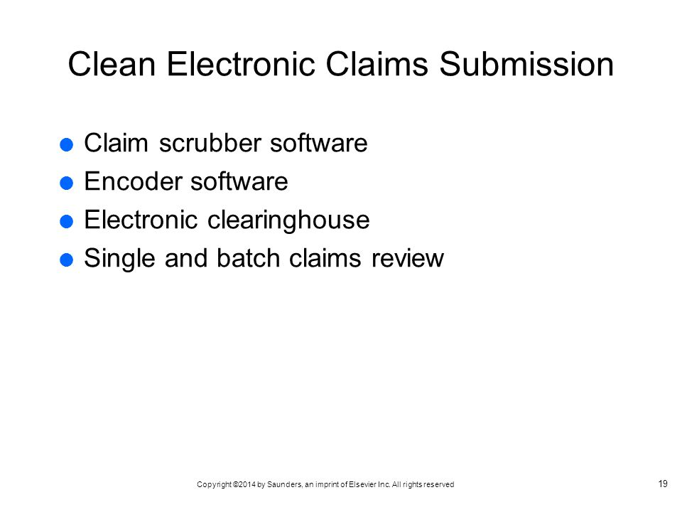 Clean Electronic Claims Submission