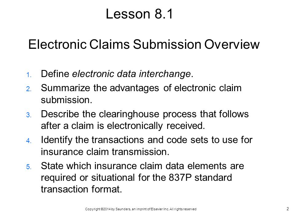Electronic Claims Submission Overview