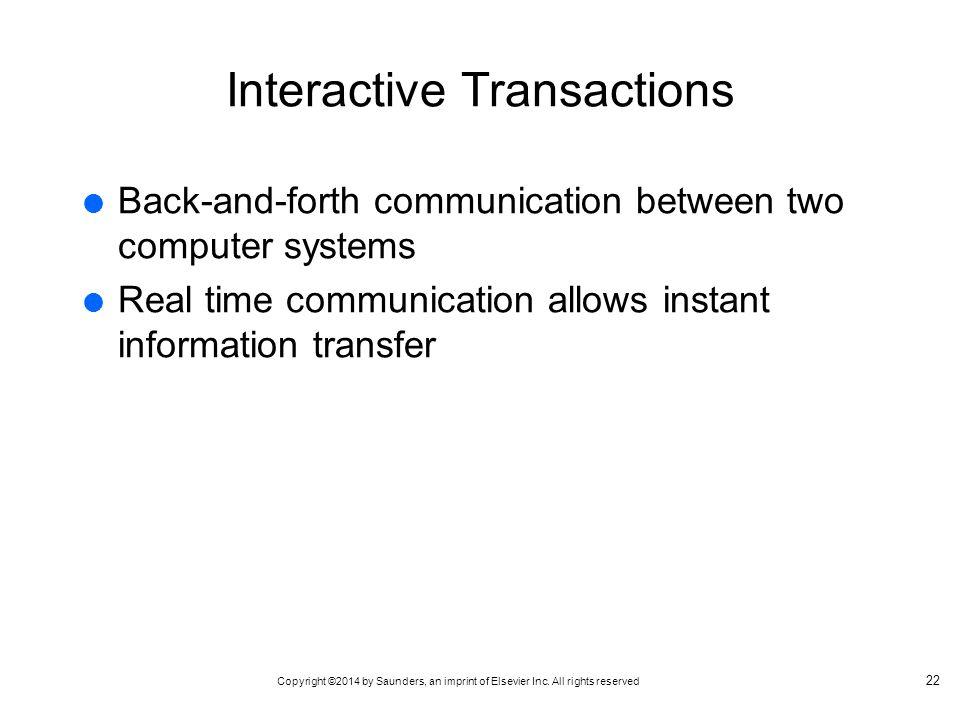 Interactive Transactions