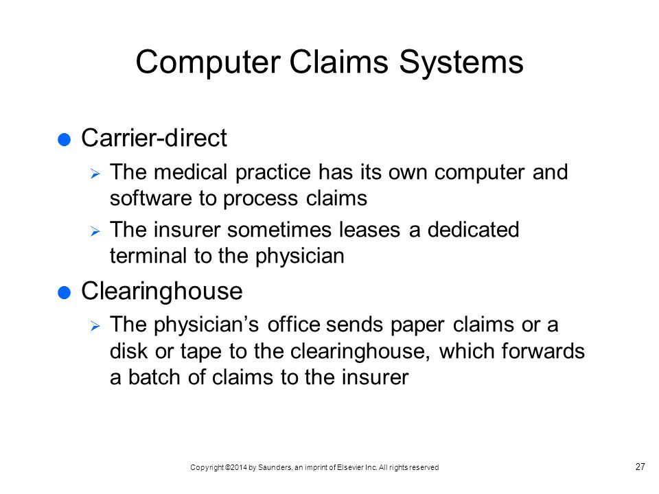 Computer Claims Systems