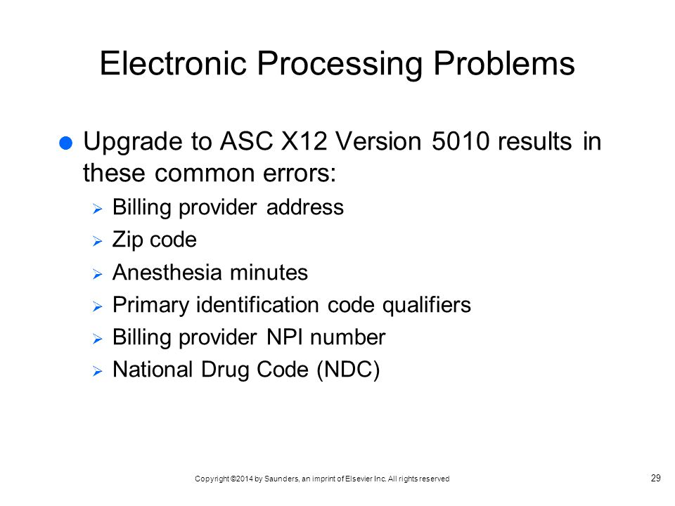 Electronic Processing Problems