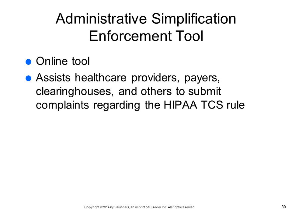 Administrative Simplification Enforcement Tool