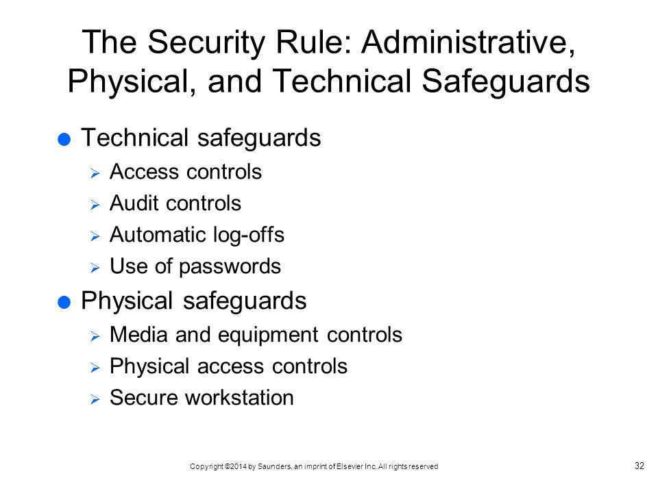 The Security Rule: Administrative, Physical, and Technical Safeguards
