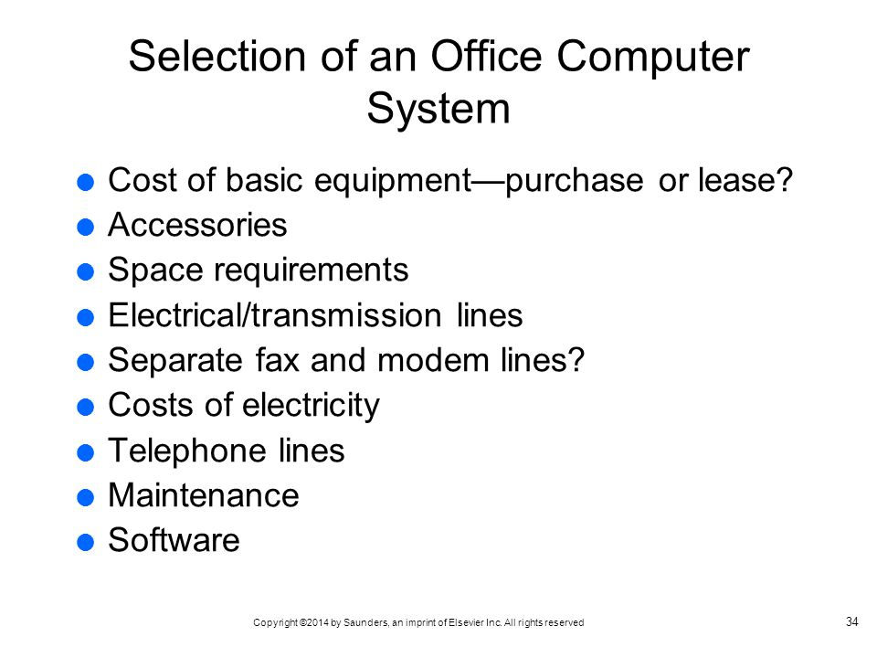 Selection of an Office Computer System