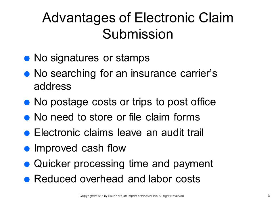 Advantages of Electronic Claim Submission