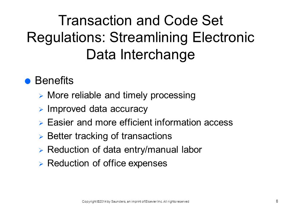 Transaction and Code Set Regulations: Streamlining Electronic Data Interchange
