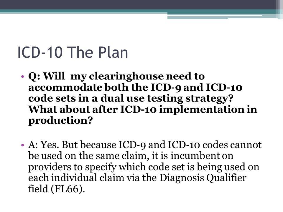 ICD-10 The Plan