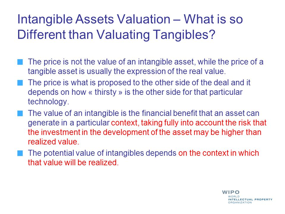 Intangible Assets Valuation – What is so Different than Valuating Tangibles