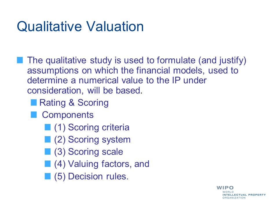 Qualitative Valuation