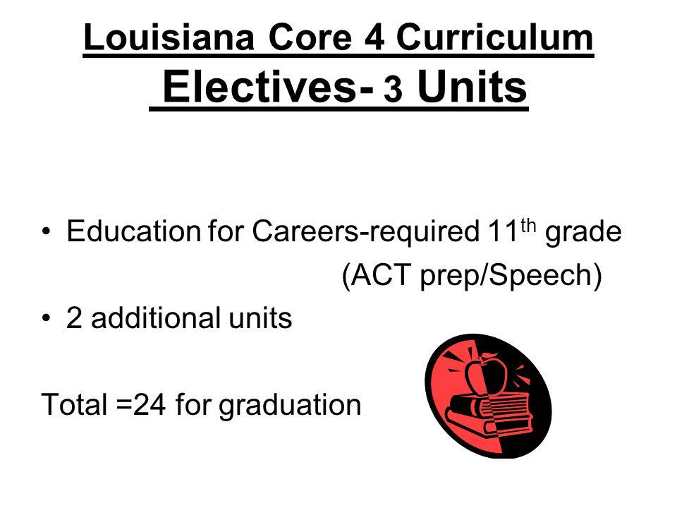 Louisiana Core 4 Curriculum Electives- 3 Units
