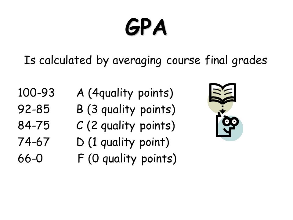 GPA Is calculated by averaging course final grades
