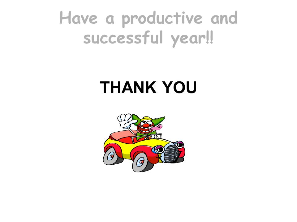 Have a productive and successful year!!