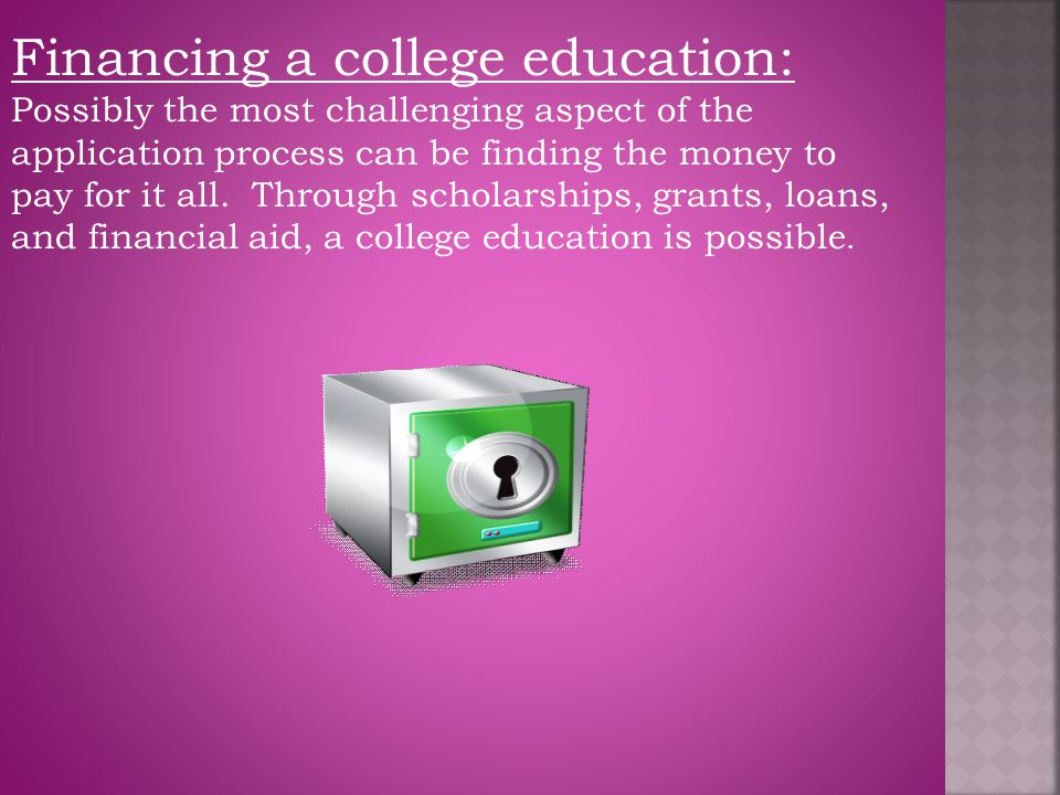 Financing a college education: