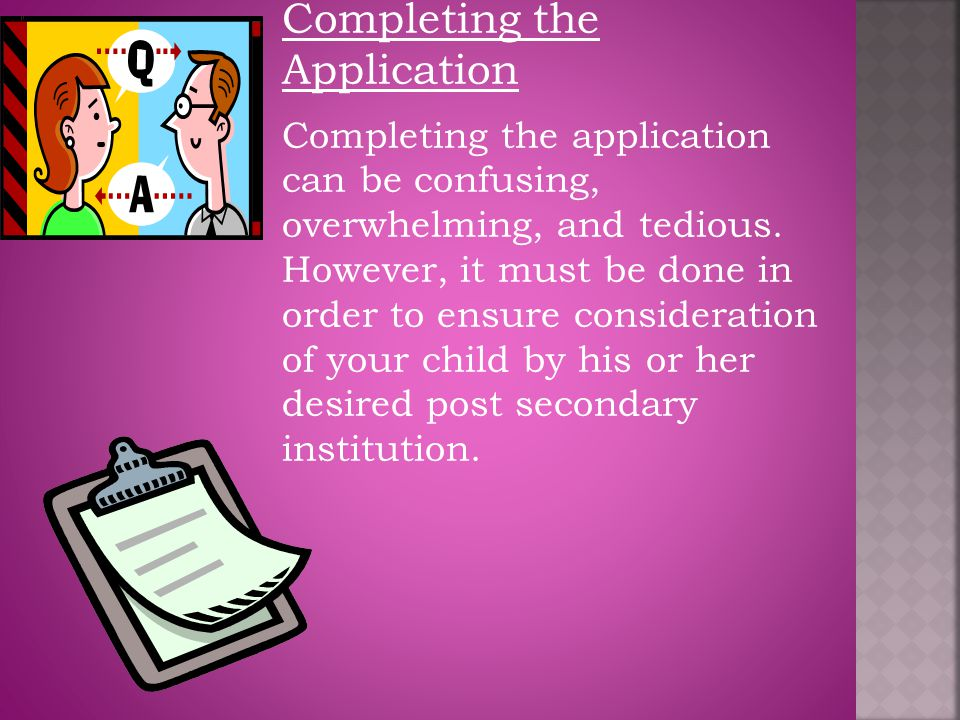 Completing the Application