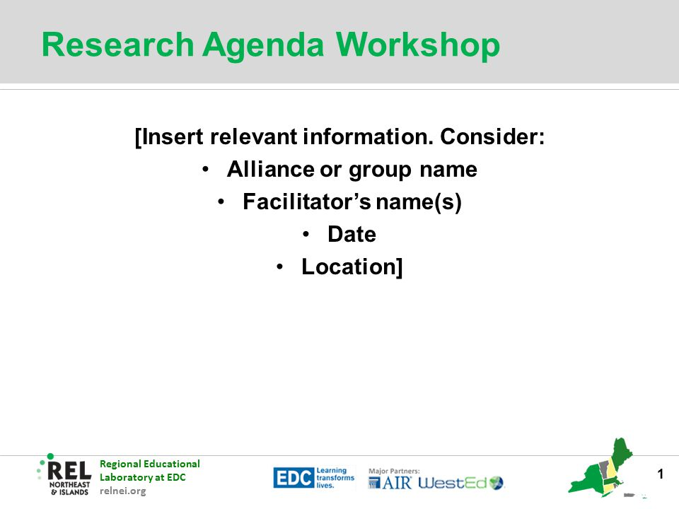 Research Agenda Workshop  Ppt Download