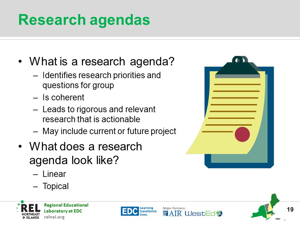 Research agendas What is a research agenda