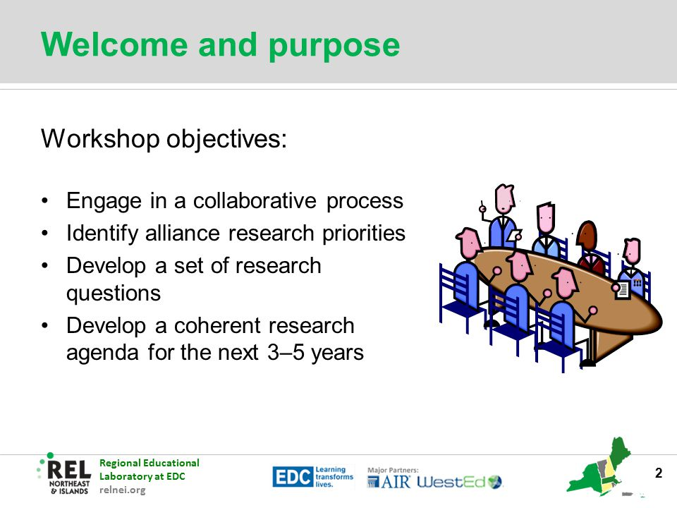 Welcome and purpose Workshop objectives: