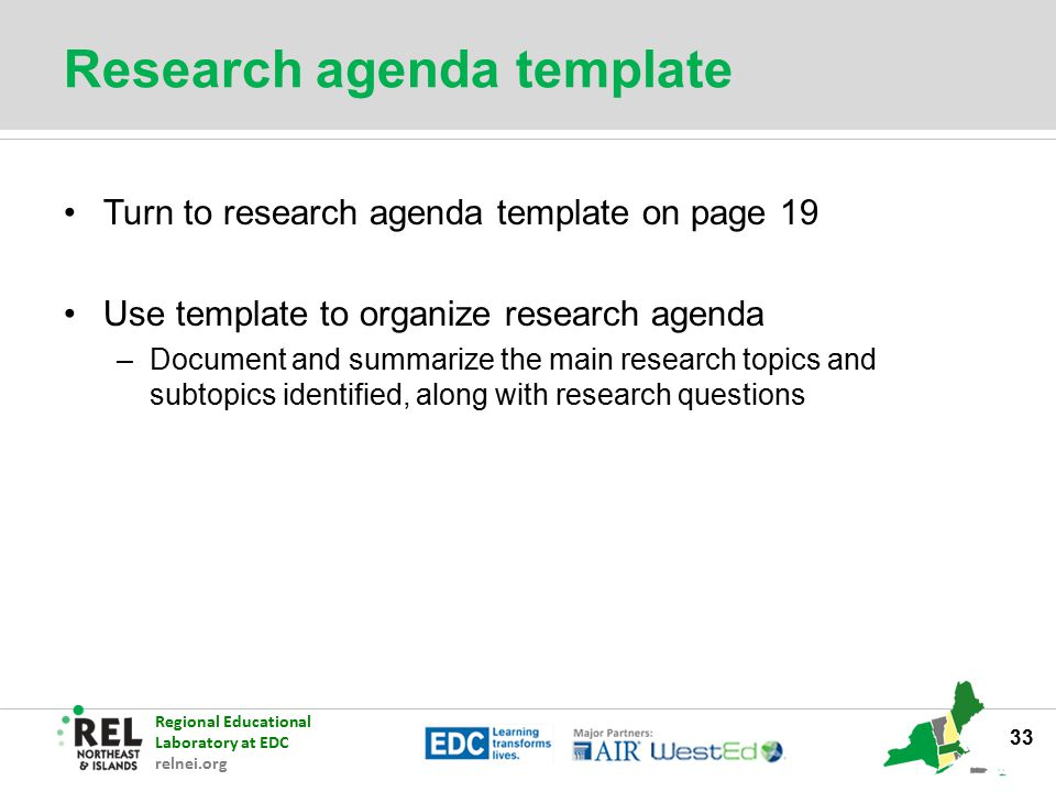 Research Agenda Workshop - Ppt Download