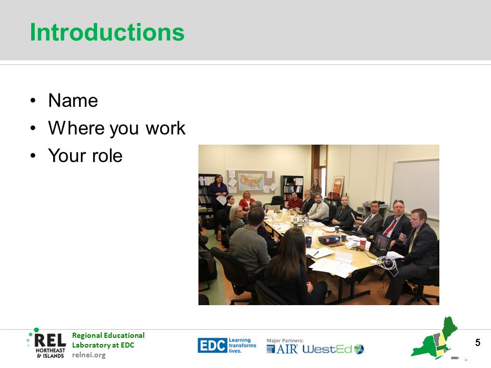 Introductions Name Where you work Your role