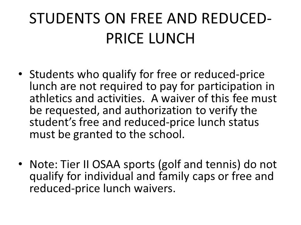 STUDENTS ON FREE AND REDUCED-PRICE LUNCH