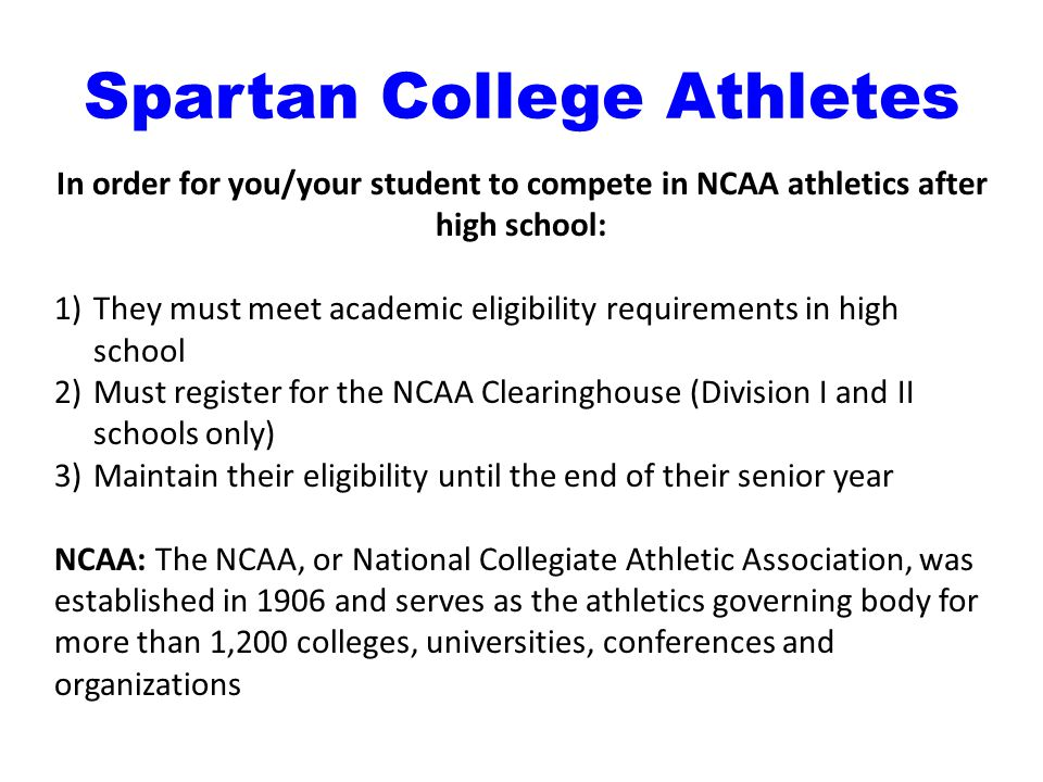 Spartan College Athletes