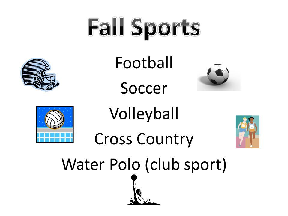 Football Soccer Volleyball Cross Country Water Polo (club sport)