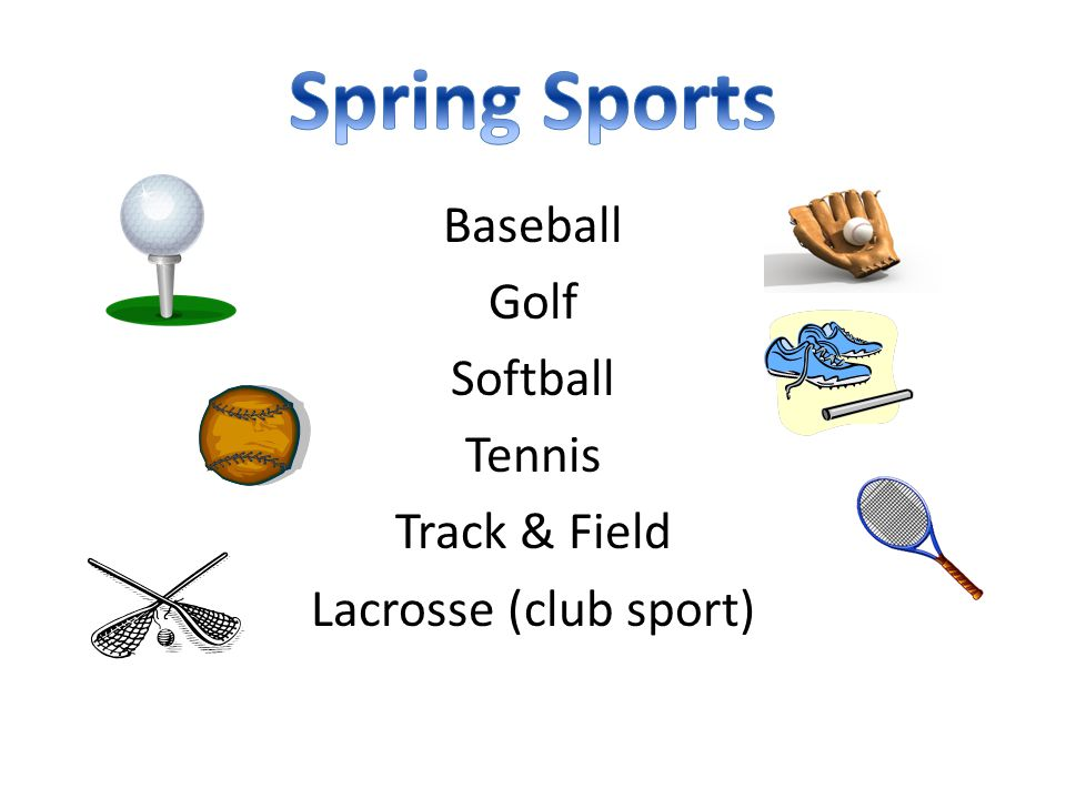 Baseball Golf Softball Tennis Track & Field Lacrosse (club sport)