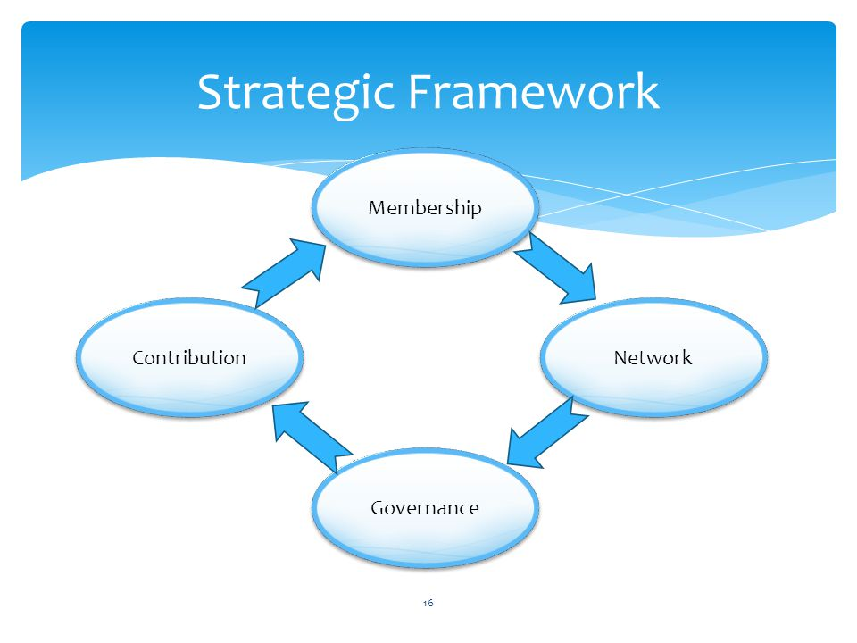 Strategic Framework Membership Governance Network Contribution