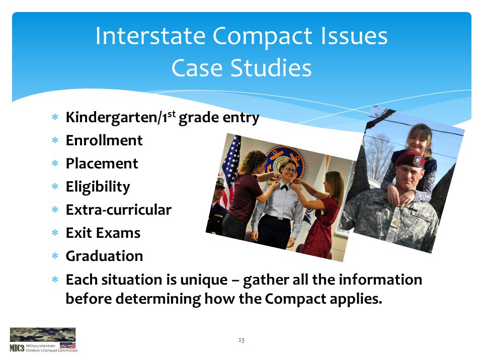 Interstate Compact Issues Case Studies