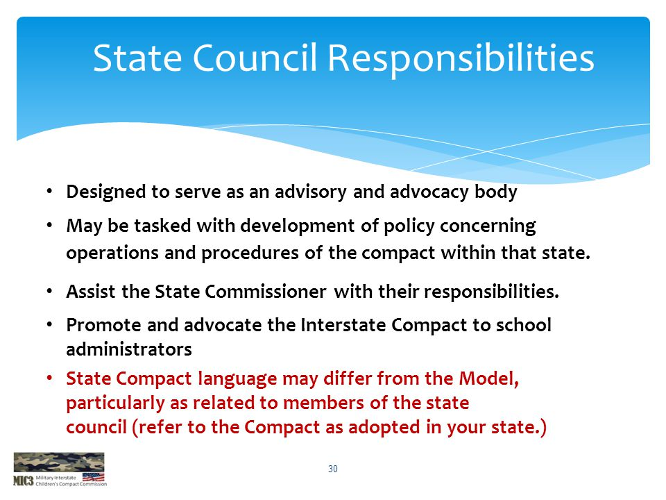 State Council Responsibilities