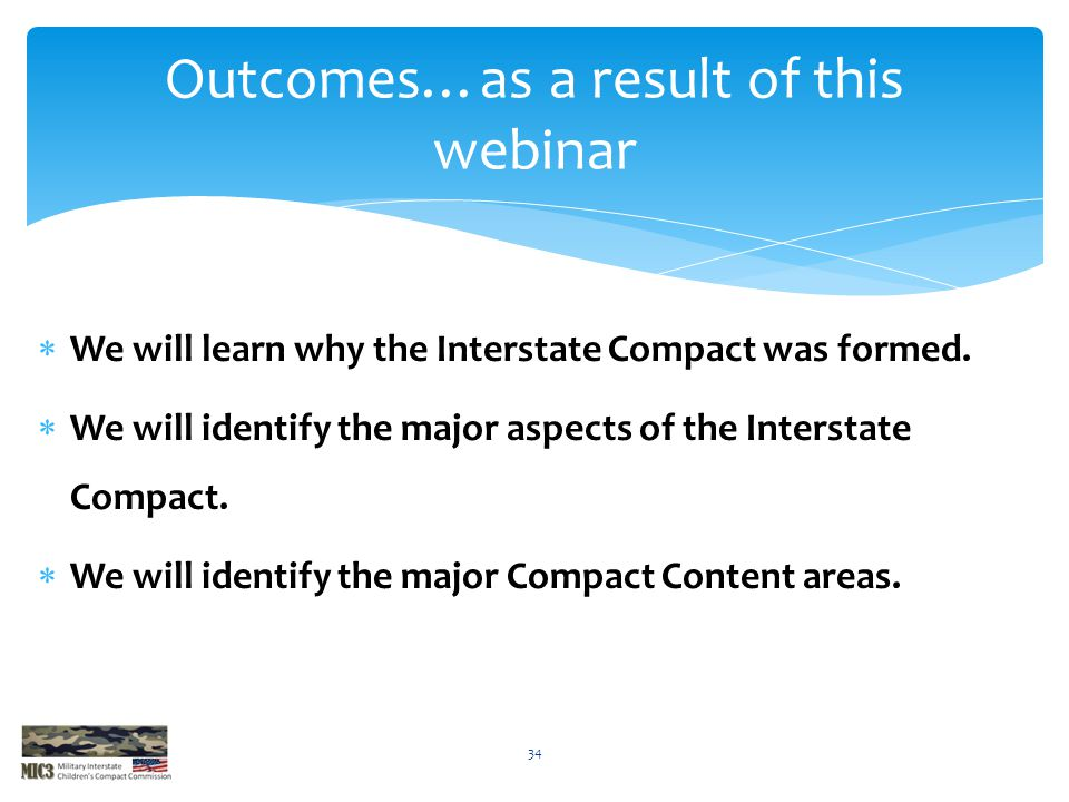 Outcomes…as a result of this webinar
