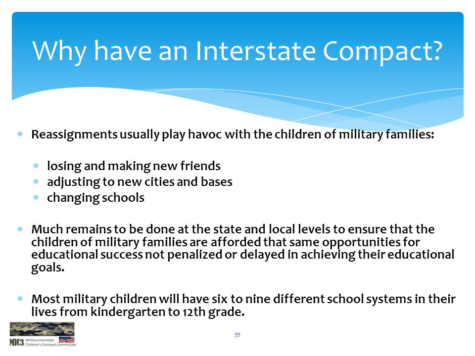 Why have an Interstate Compact