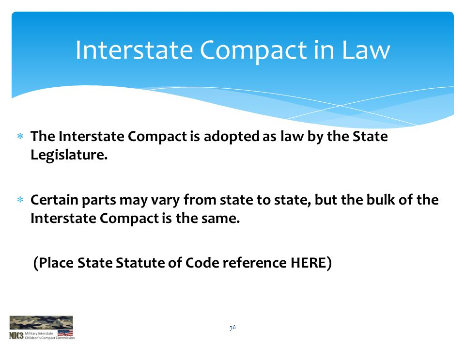 Interstate Compact in Law