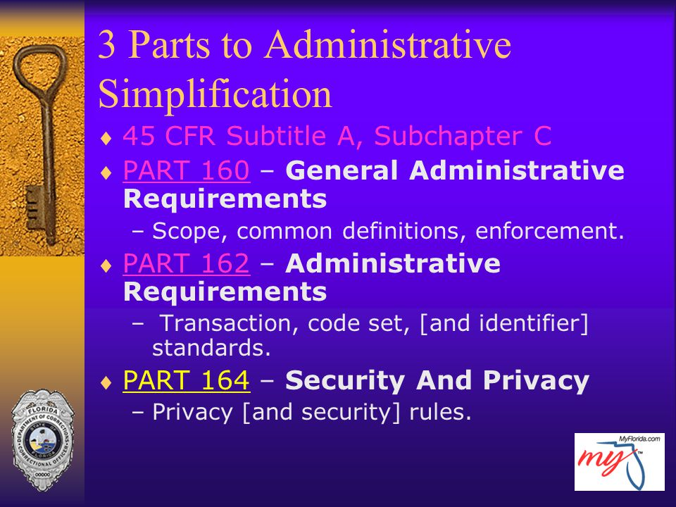 3 Parts to Administrative Simplification