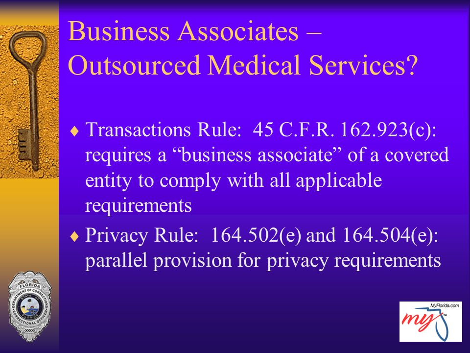 Business Associates – Outsourced Medical Services