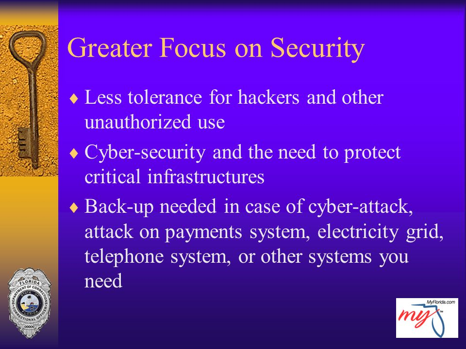 Greater Focus on Security