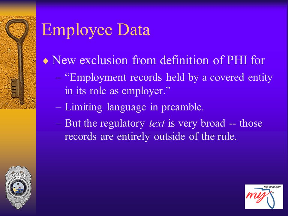 Employee Data New exclusion from definition of PHI for