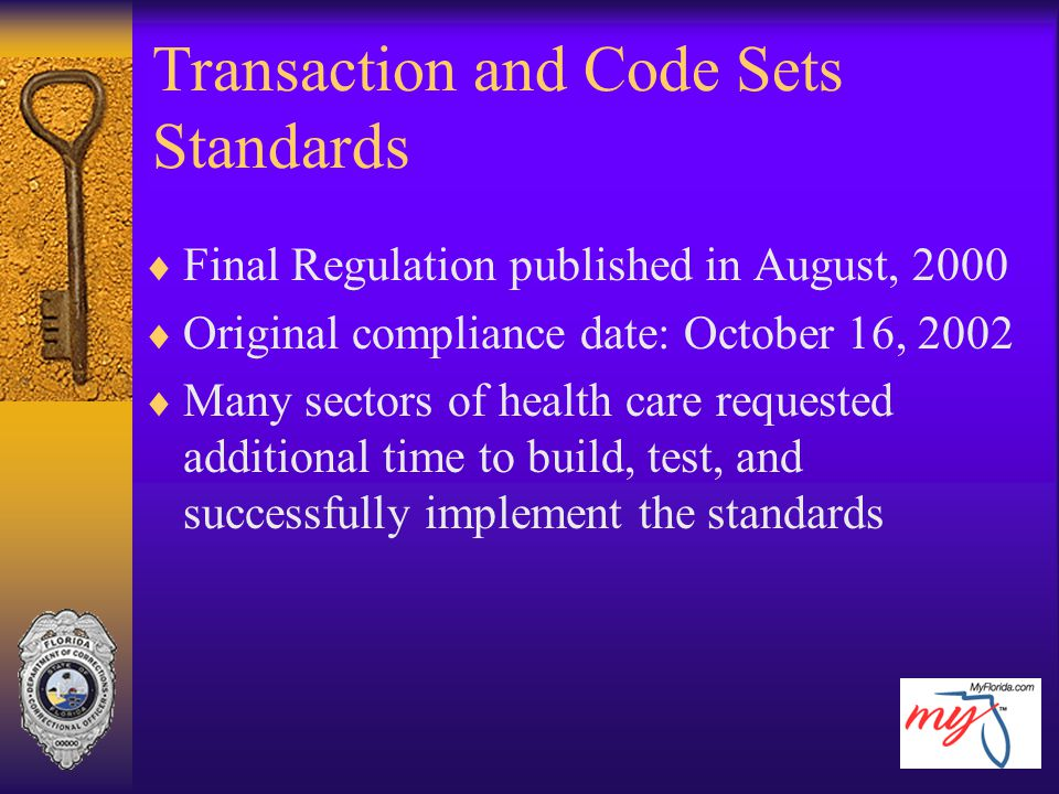 Transaction and Code Sets Standards