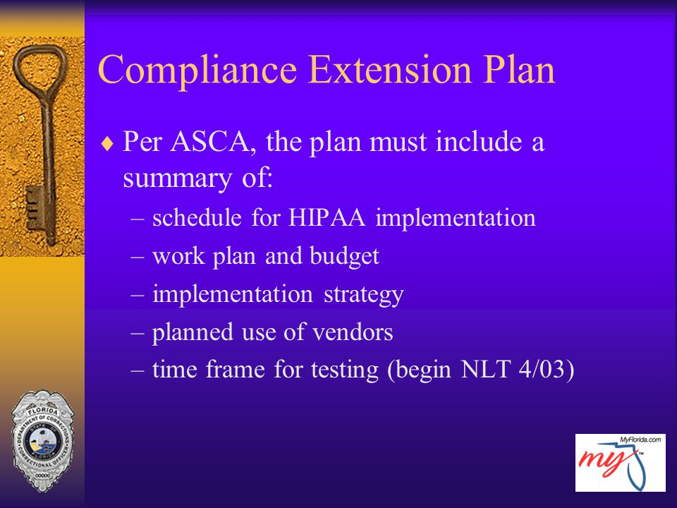 Compliance Extension Plan