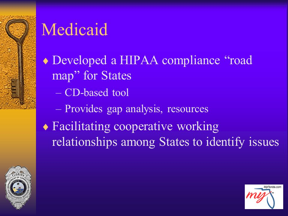 Medicaid Developed a HIPAA compliance road map for States