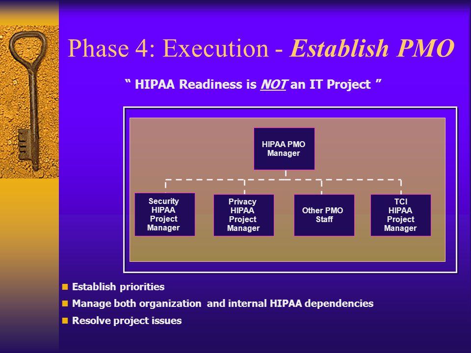 Phase 4: Execution - Establish PMO